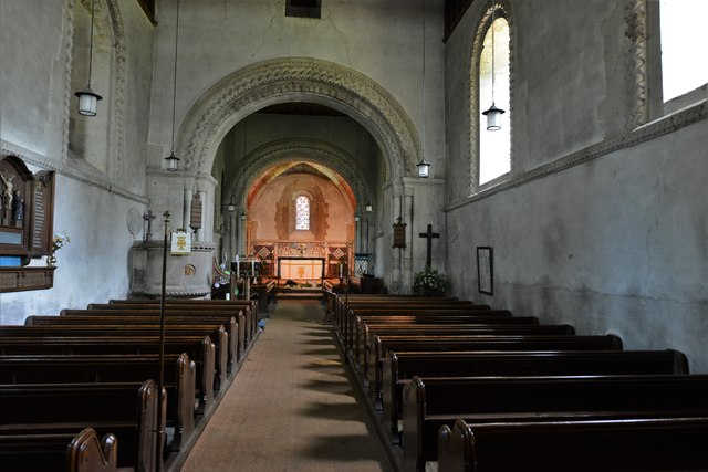 Stewkley, St. Michael's Church: Unaltered Norman interior 1150-1180