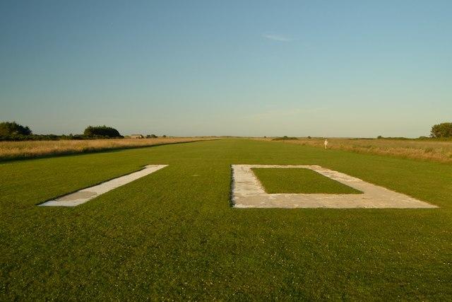 Runway 10 at Dornoch Airfield