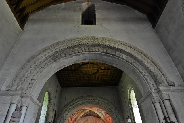 Stewkley, St. Michael's Church: The Norman tower arch