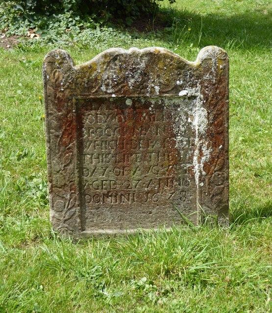 17th-century gravestone, St Mary's, Chilton Foliat