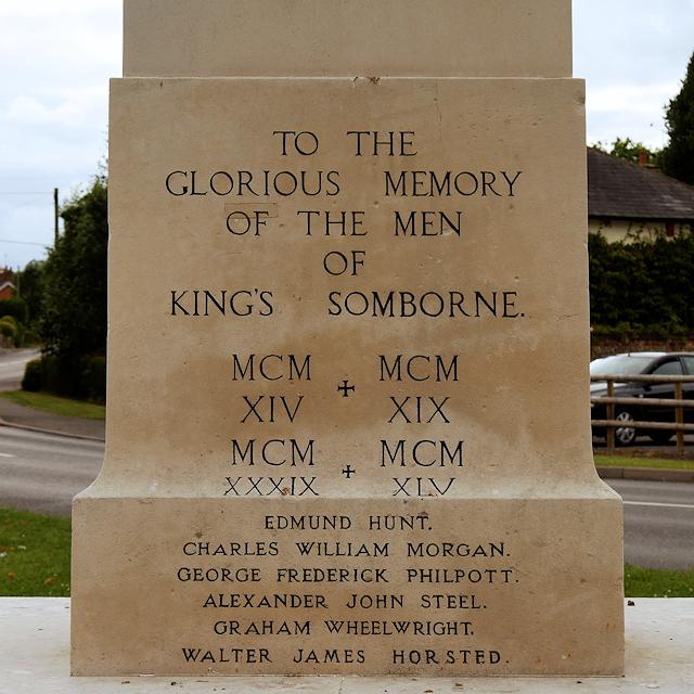 King's Somborne War Memorial (detail)