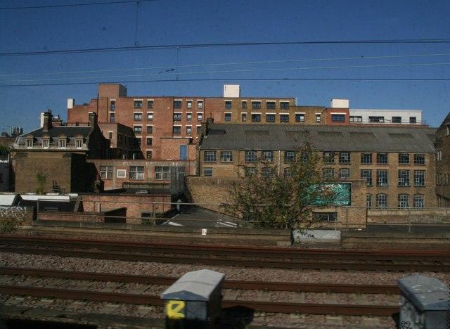 Buildings off Hollybush Gardens, Bethnal Green