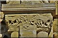 SP8526 : Stewkley, St. Michael's Church: Weathered Norman west doorway capital 2 by Michael Garlick