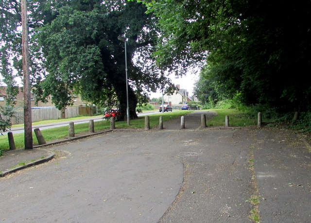 Concrete posts at the southern end of Bethania Row, Old St Mellons, Cardiff