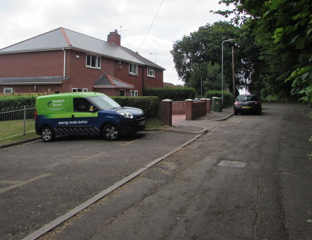Southern Electric van, Bethania Row, Old St Mellons, Cardiff