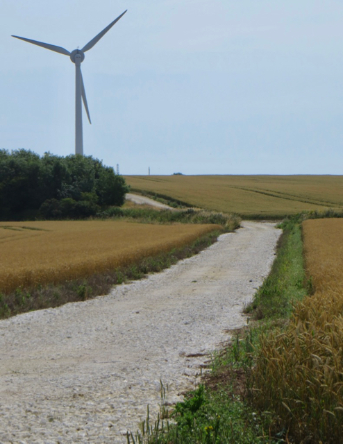 Turbine access track near Weeton
