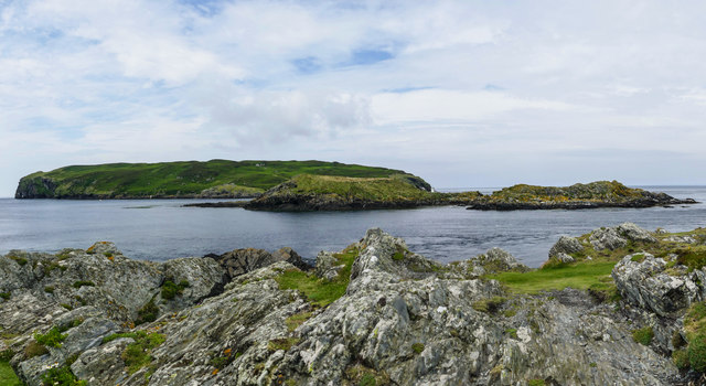 Looking south west across Calf Sound