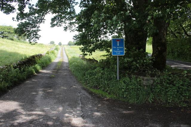 Track to Hartington Moor Farm