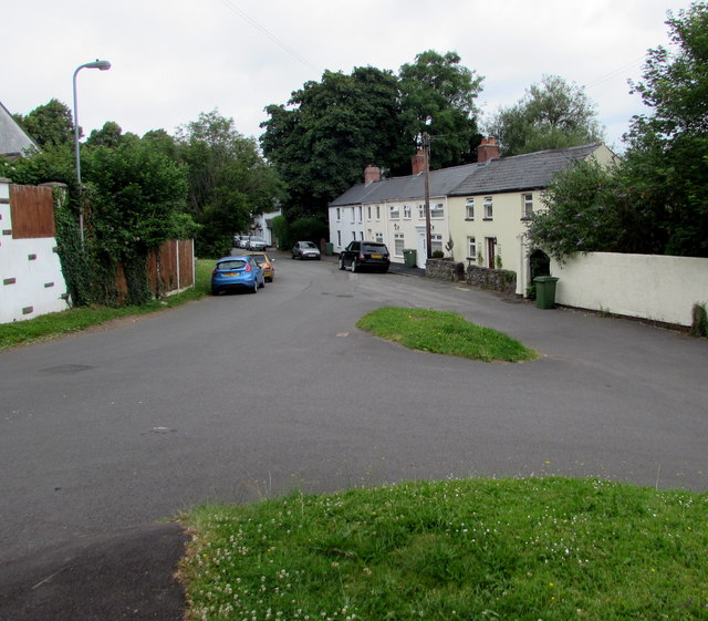 Junction in Old St Mellons, Cardiff