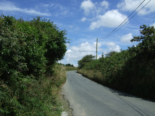 Minor road towards Falmouth