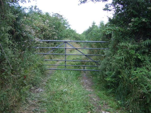 Gated farm track near Mentone