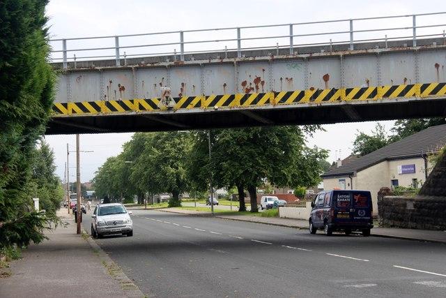 Railway bridge over Shawmoss Road