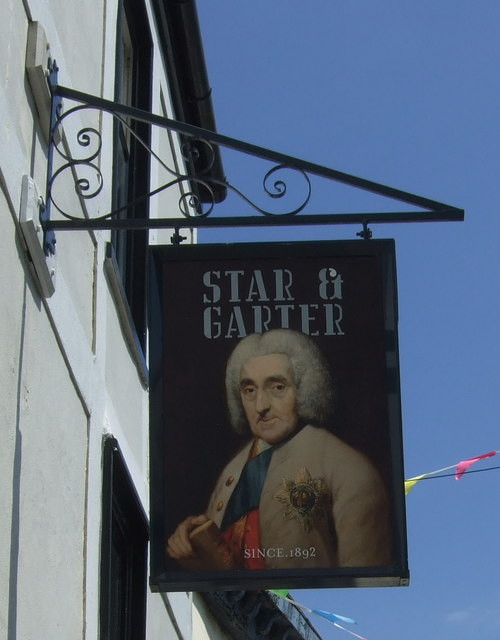 Sign for the Star & Garter, Falmouth