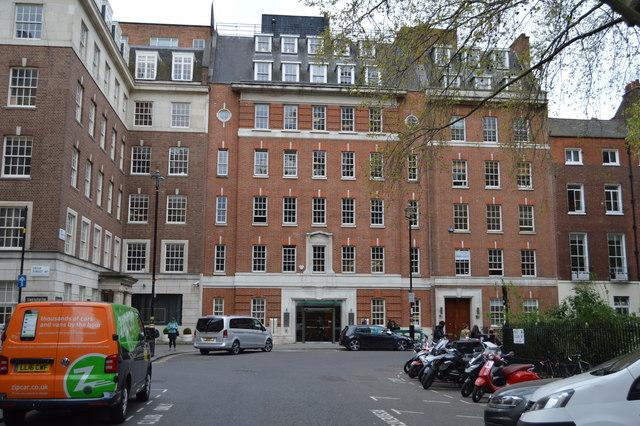SW corner of Soho Square