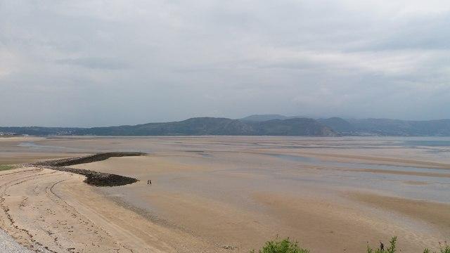 Afon Conwy estuary at West Shore, Llandudno