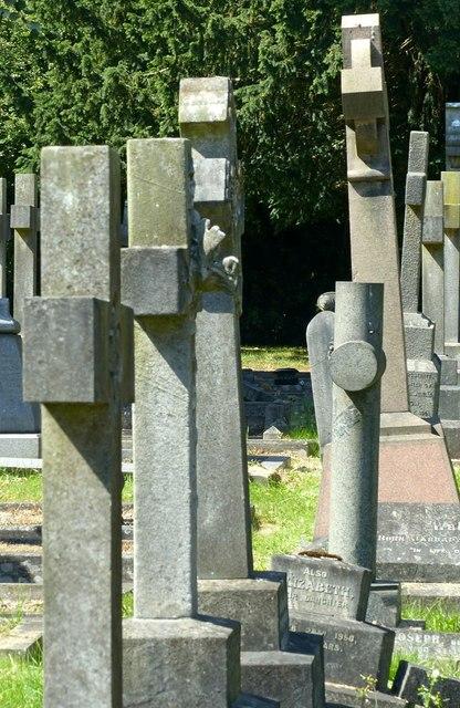 Line of crosses, Heanor Cemetery