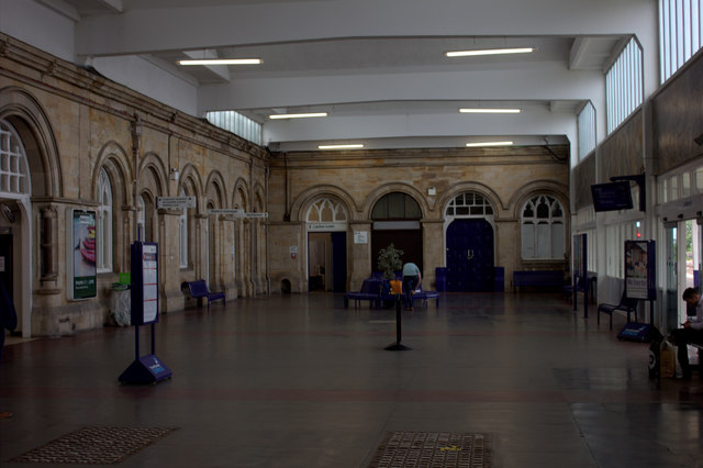 Middlesbrough station, waiting area