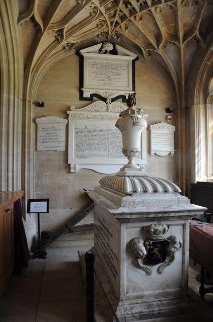 Memorial to John Churchill, King's College Chapel