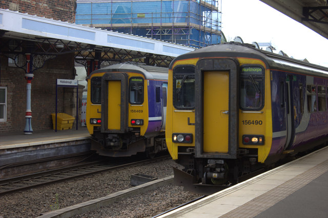 Middlesbrough station - Northern Rail 156 units