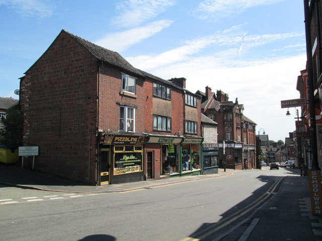 Shops on St Edwards Street, Leek