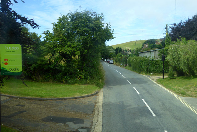 At Chillerton Green bus stop
