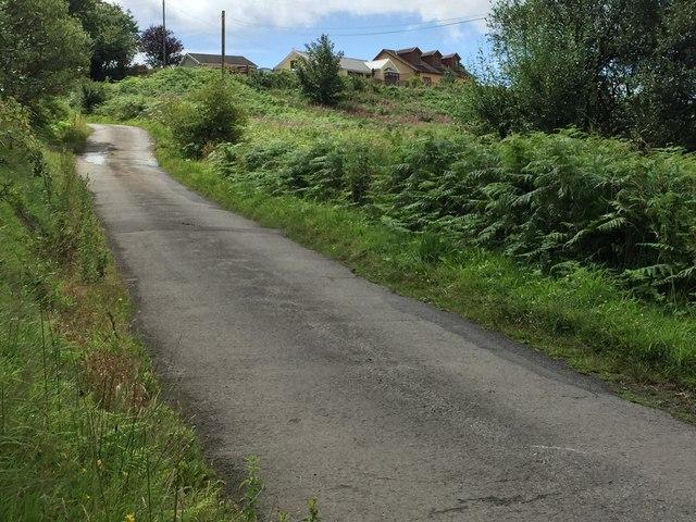 Roadway leading to Penrhys Fawr