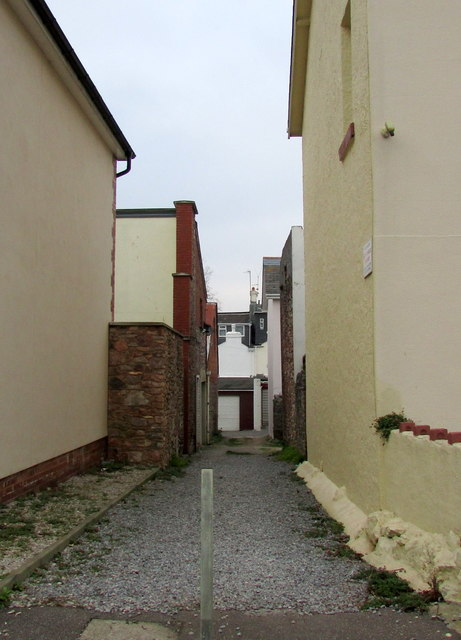 Alley off Lime Avenue, Torquay