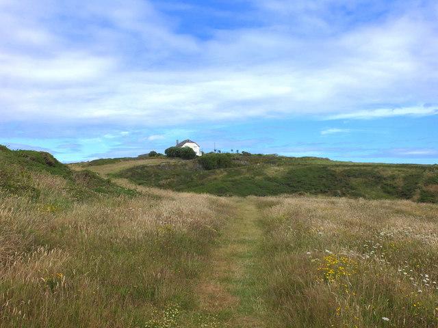 Path from Carn Caerthillian to Pentreath Lane