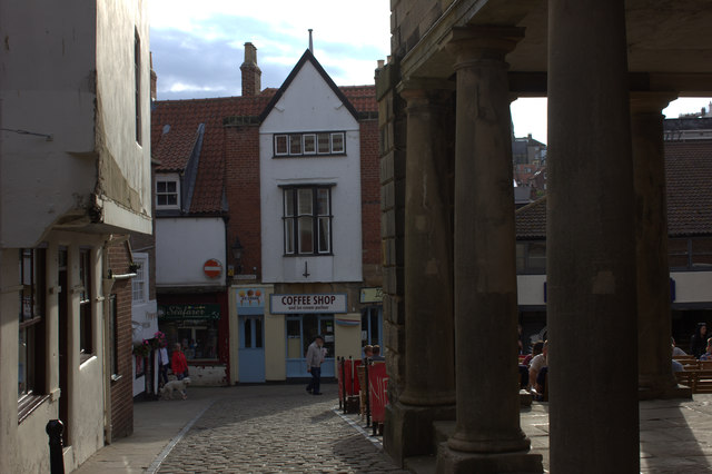 Whitby.  Edge of the old market place