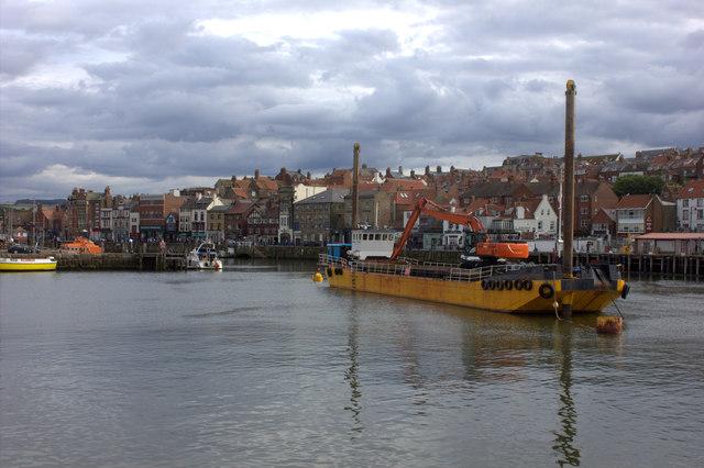 Whitby. Dredging vessel