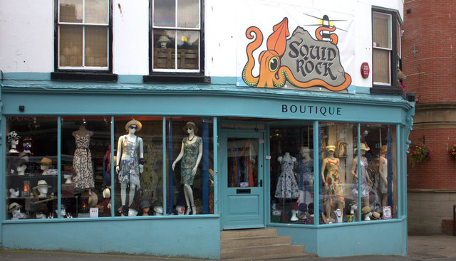 Whitby. Squid Rock boutique