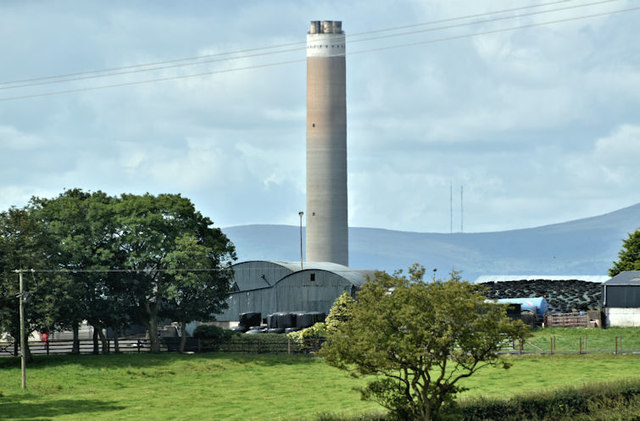 Chimney, Kilroot power station (July 2017)