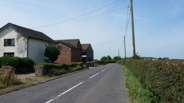 The B road east of Downholland Cross