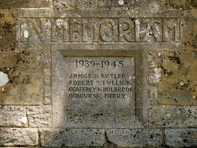 Martyr Worthy War Memorial Roll of Honour (WWII)
