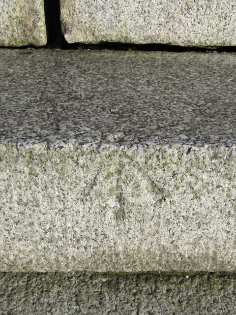 Pivot bench mark on the Yates Monument in Prince's Park