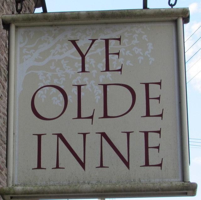 Ye Olde Inne name sign, Westerleigh