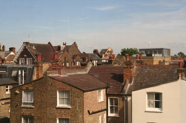 The roofs of Earlsfield viewed across those of Summerley Street