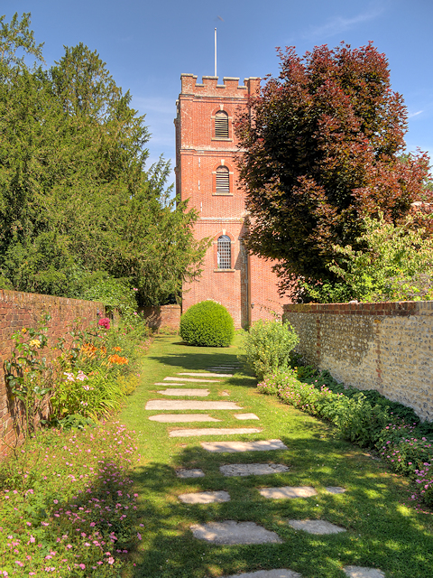 St Mary's Churchyard Path and Tower, Avington