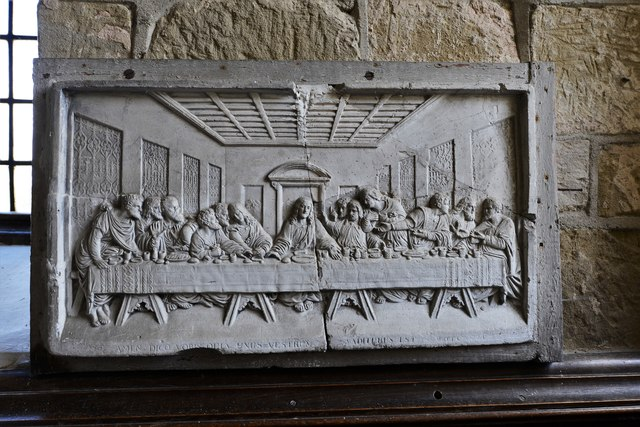 Abberley, St. Michael's Old Church: Last Supper plaque