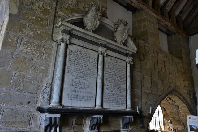 Abberley, St. Michael's Old Church: Blount and Valance memorials