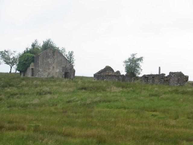Derelict buildings west of Haining Head