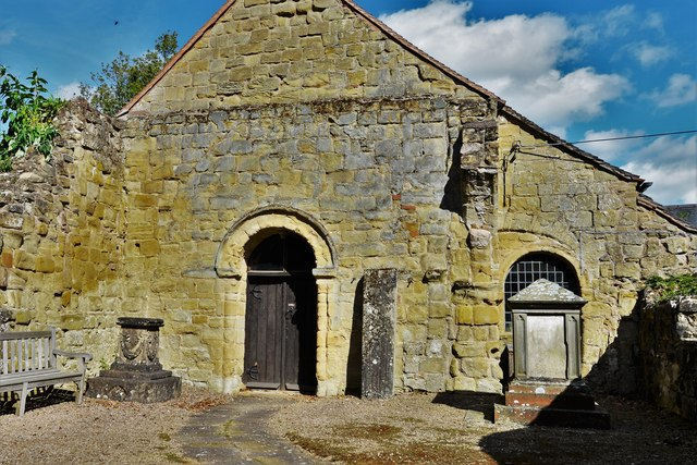 Abberley, St. Michael's Old Church: Western aspect with Norman doorway