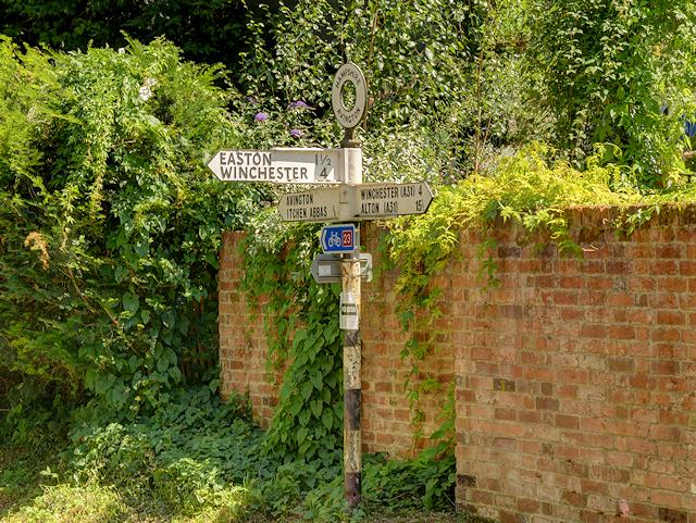 Old-Style Signpost near Avington