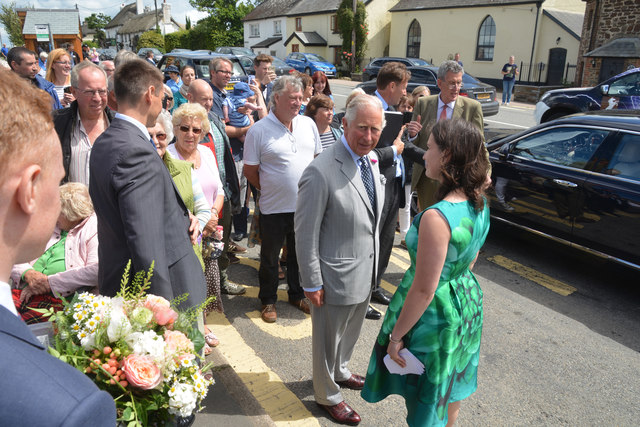 Cheriton Bishop : Royal Visit