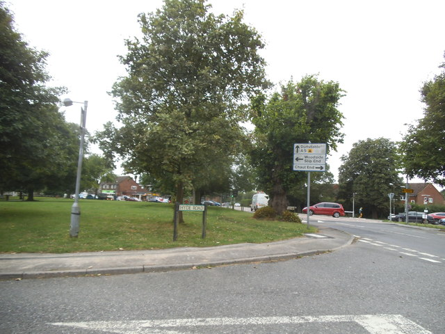 Hyde Road at the junction of Luton Road