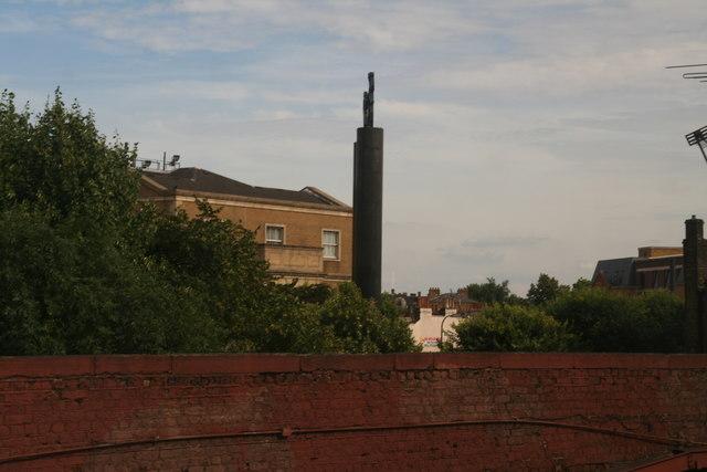 East of Vauxhall railway bridge