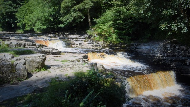 The River Ribble at Stainforth Force