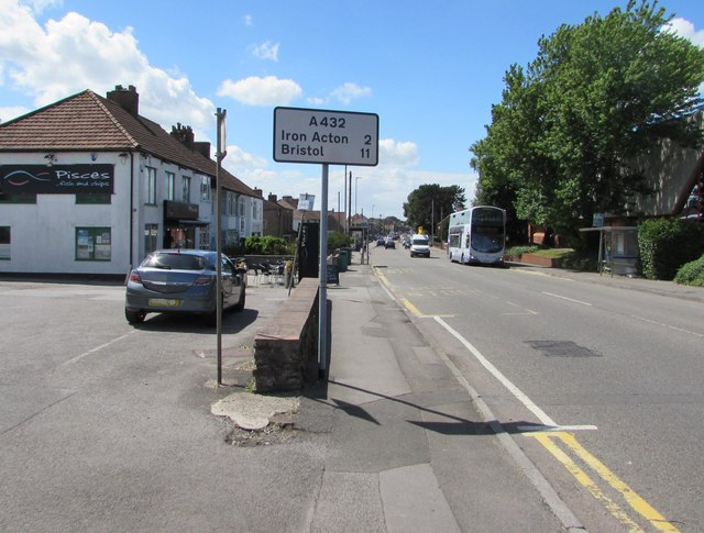 Yate : Station Road 2 miles from Iron Acton, South Gloucestershire