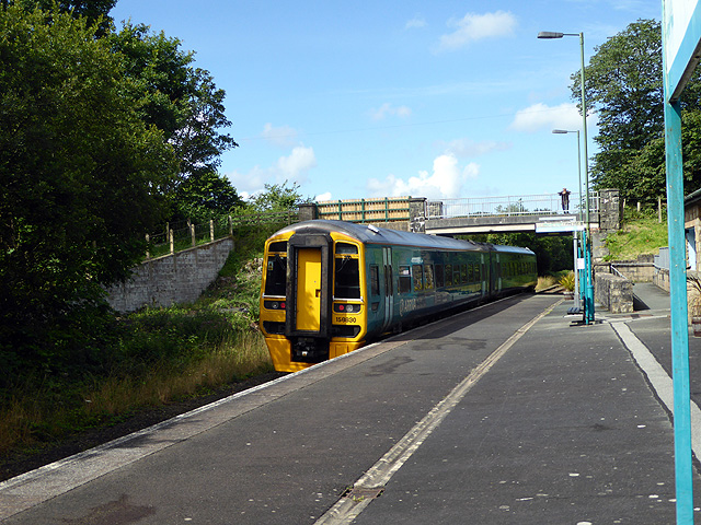 A train for Pwllheli departing from Penychain