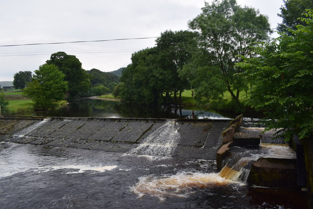 Weir on the Ribble.